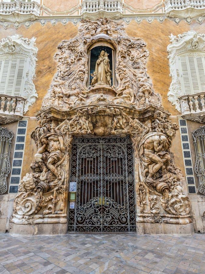 对全国陶瓷博物馆冈萨雷斯马蒂的入口 库存图片