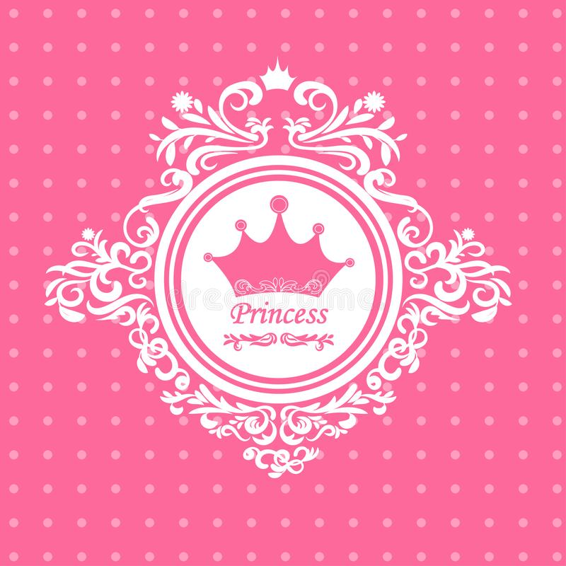 对公主的贺卡 免版税库存照片