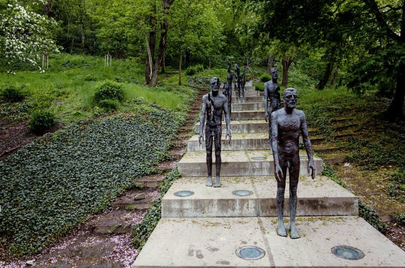 对共产主义的受害者,布拉格,捷克的纪念品 图库摄影