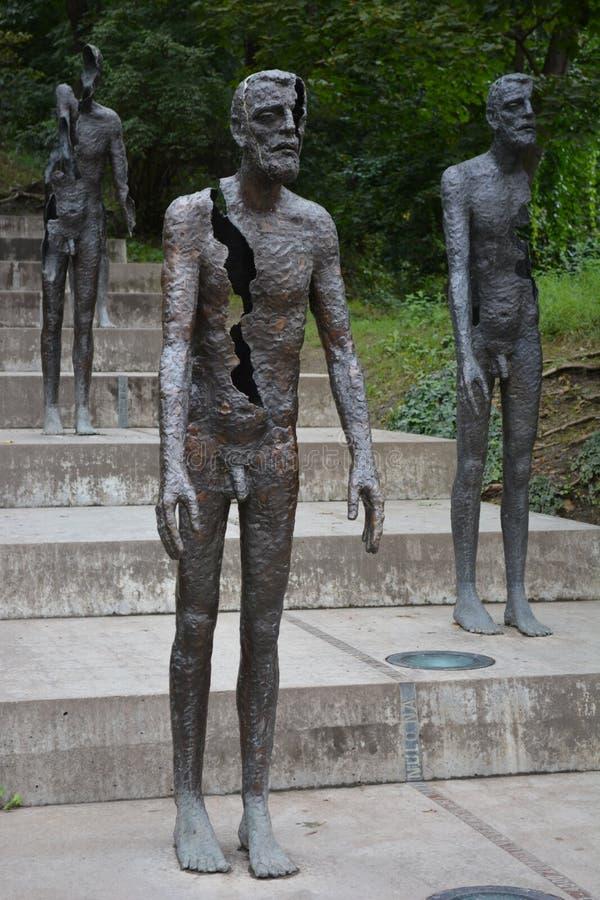 对共产主义的受害者,布拉格的纪念品 图库摄影