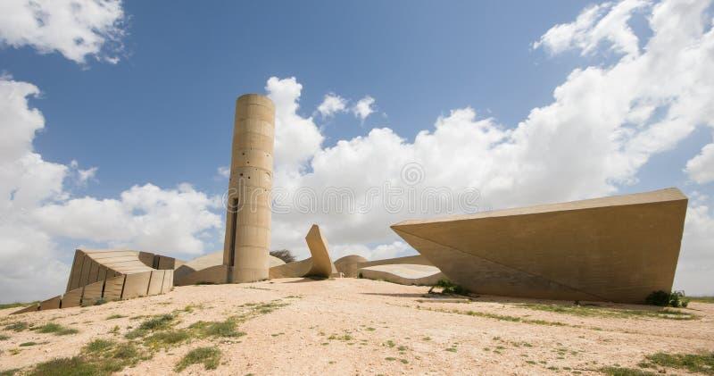 对内盖夫旅团的纪念碑 免版税库存照片