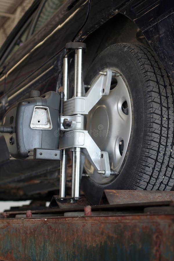 对准线轮子 图库摄影