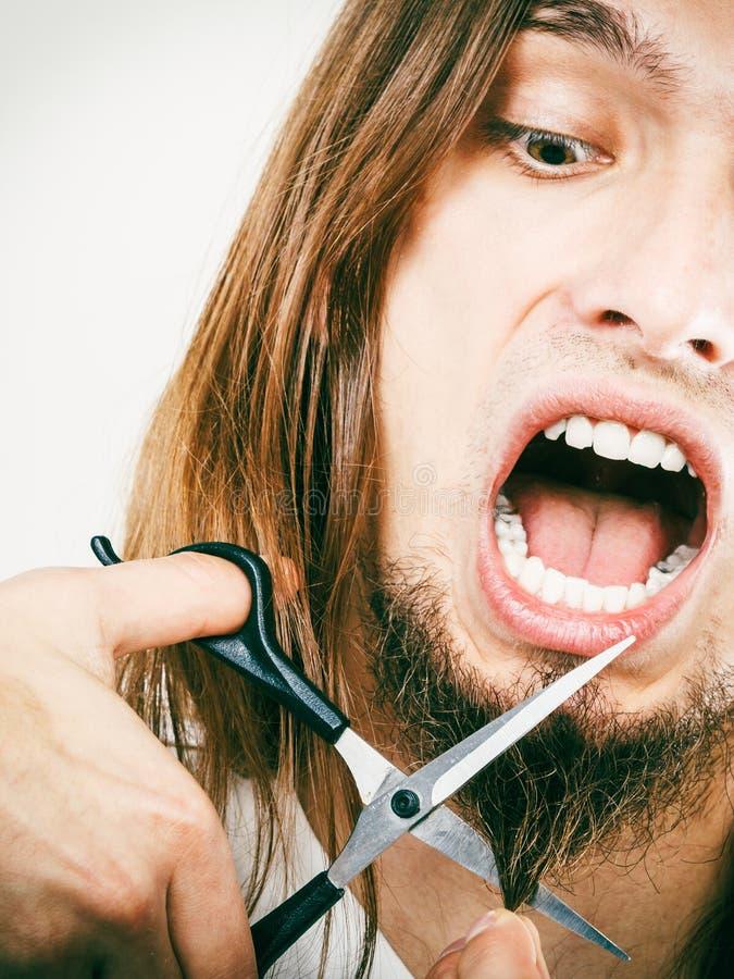 对切口胡子的恐惧 免版税库存图片