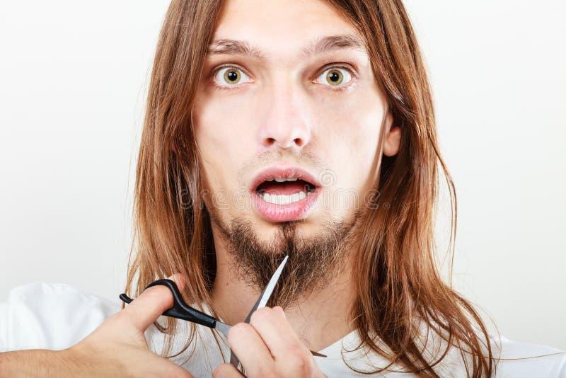 对切口胡子的恐惧 库存图片