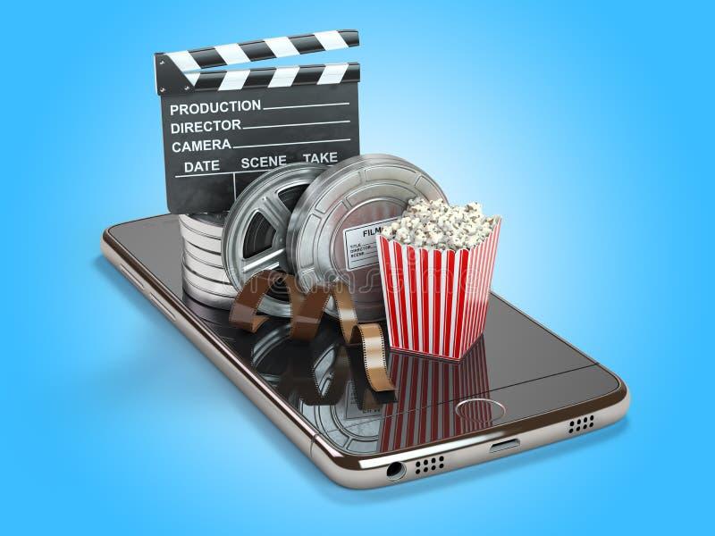 对创造的手机申请,看末端编辑录影 皇族释放例证