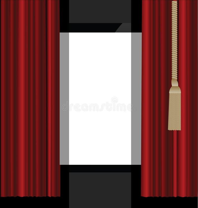 对剧院阶段的红色窗帘
