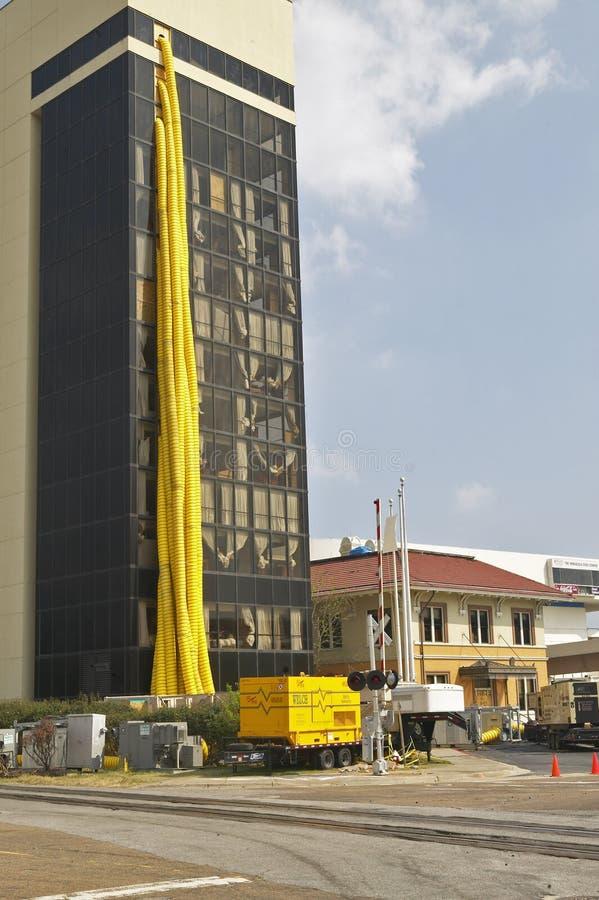 对办公楼的行业维修服务 免版税图库摄影