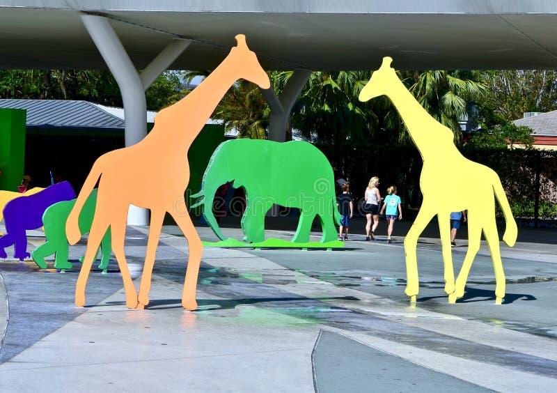 对动物园迈阿密的入口 免版税库存照片