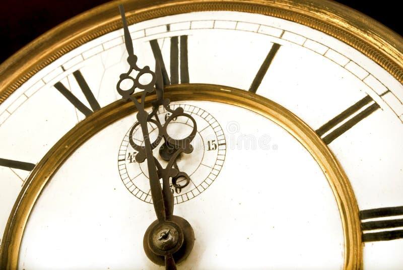 对午夜的一分钟,有魅力的小时 免版税库存照片