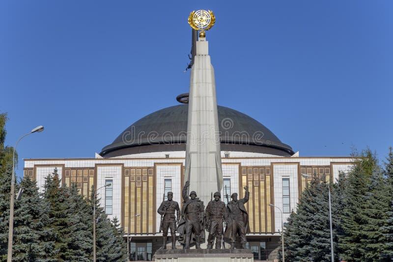 对反希特勒联合国家,胡同党羽的纪念碑在Poklonnaya小山的,莫斯科,俄罗斯胜利公园 库存图片