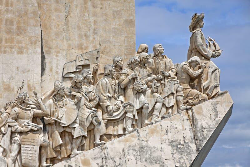 对发现的纪念碑在贝拉母,里斯本,葡萄牙 免版税图库摄影