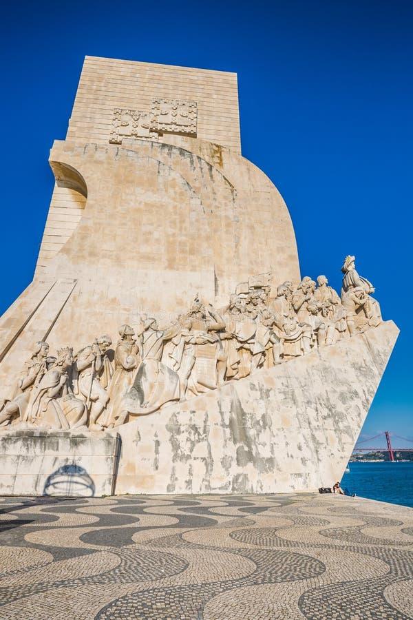 对发现的纪念碑,里斯本,葡萄牙,欧洲 库存照片