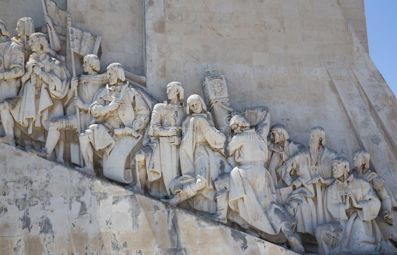 对发现的纪念碑,里斯本,葡萄牙, 库存图片