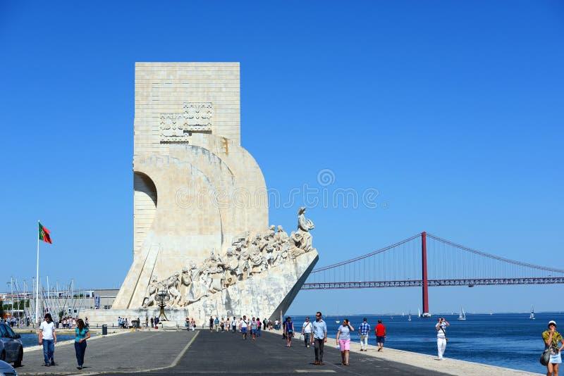 对发现的纪念碑,里斯本,葡萄牙 免版税图库摄影