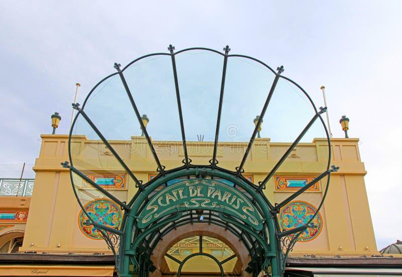 对咖啡馆de巴黎,摩纳哥的入口 免版税库存图片