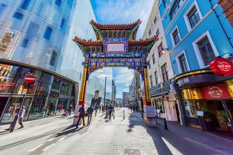 对唐人街的入口 库存图片