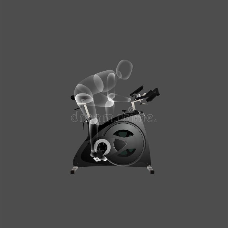 对固定式自行车传染媒介例证的适当的用途 皇族释放例证