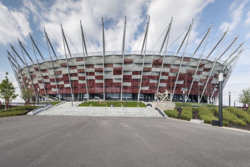对国家体育场,华沙的入口, 免版税库存图片