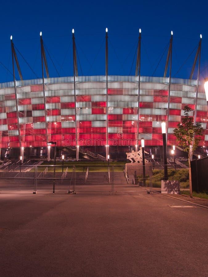 对国家体育场,华沙,波兰的入口 库存图片