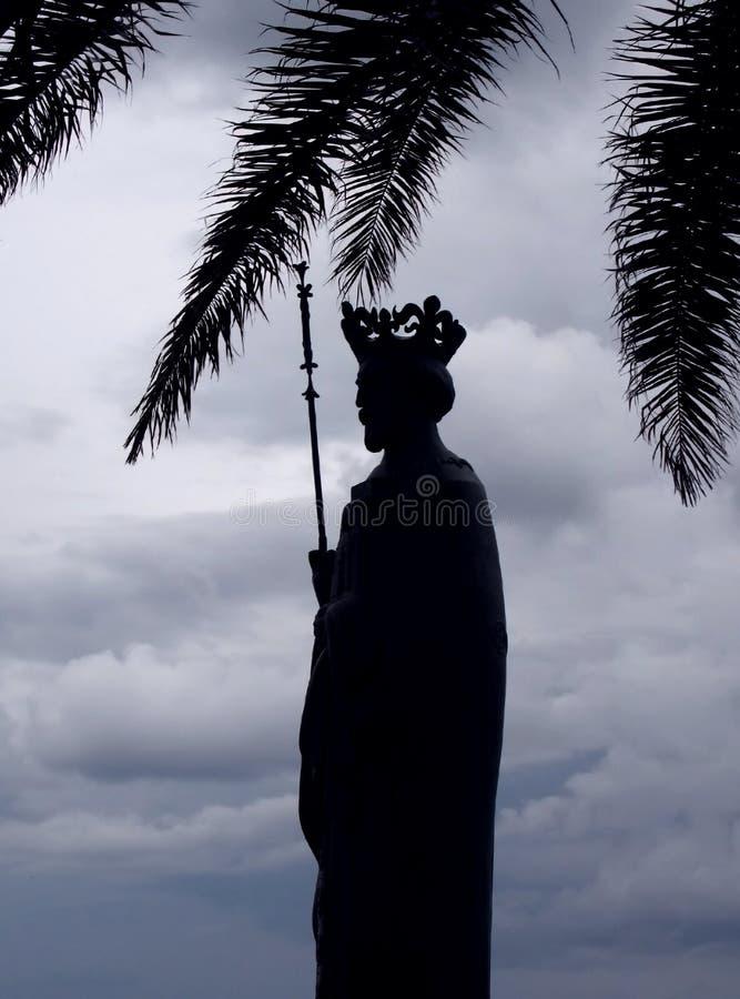 对国王Tvrtko I的纪念碑在新海尔采格,黑山 免版税图库摄影