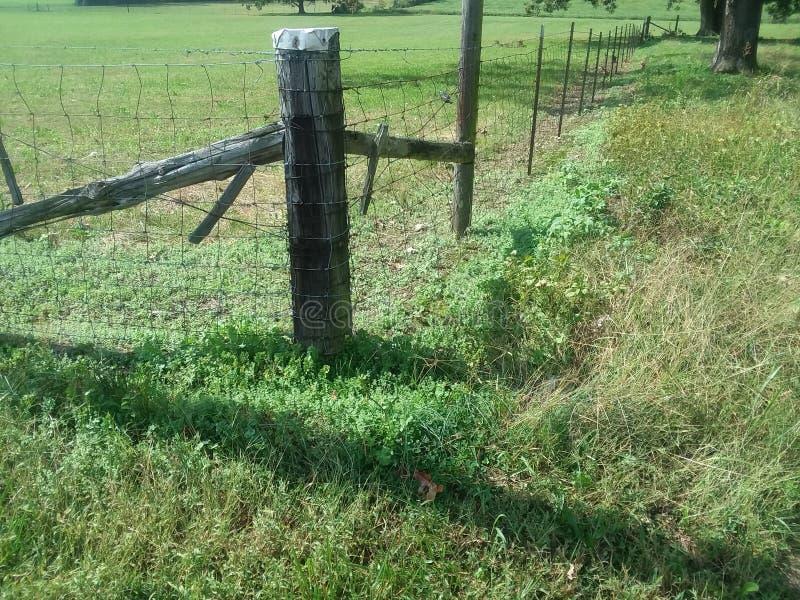 对土地的篱芭 库存照片