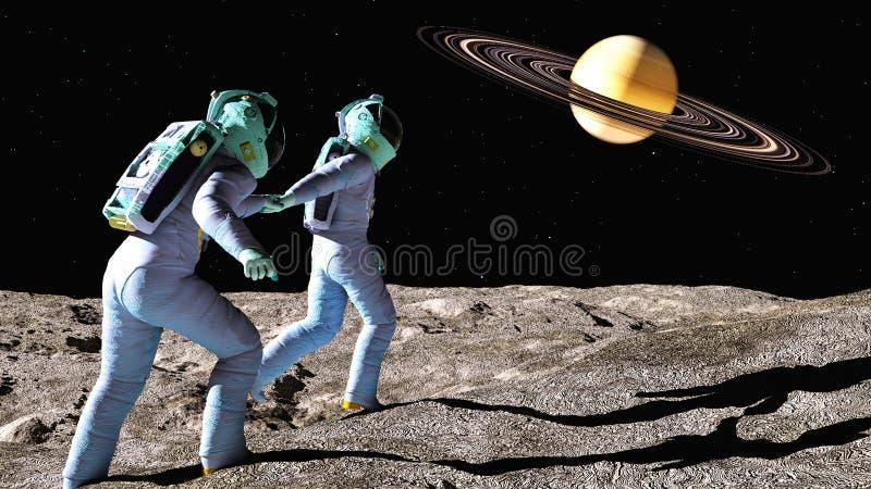 对土星的跟我学 向量例证