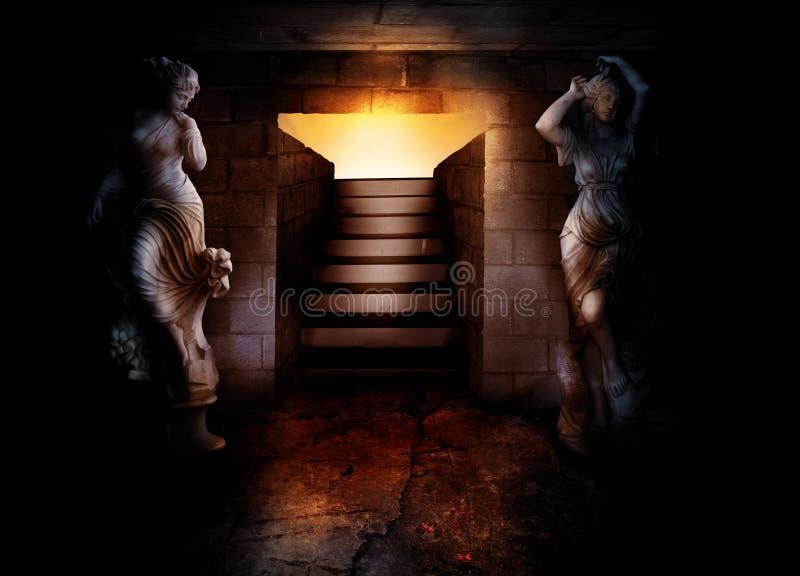 对地下空间的楼梯 皇族释放例证