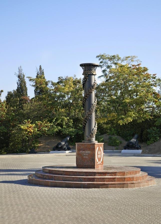 对塞瓦斯托波尔的防御者的纪念碑 塞瓦斯托波尔 乌克兰 免版税库存照片