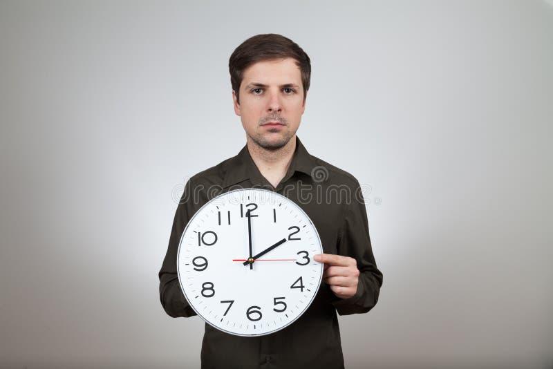 对夏令时的时钟变动 库存图片