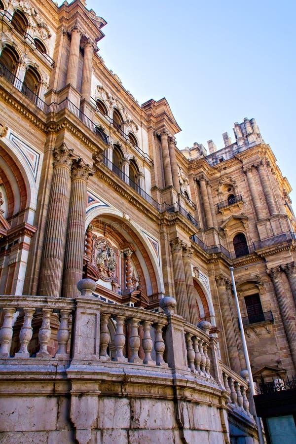 对大教堂的入口在马拉加 库存照片