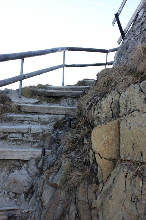 对天堂的楼梯皮拉图斯峰的 免版税库存照片