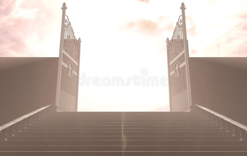 对天堂门的台阶 库存例证