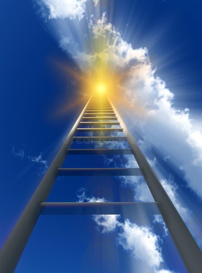 对天堂56的楼梯 免版税库存图片
