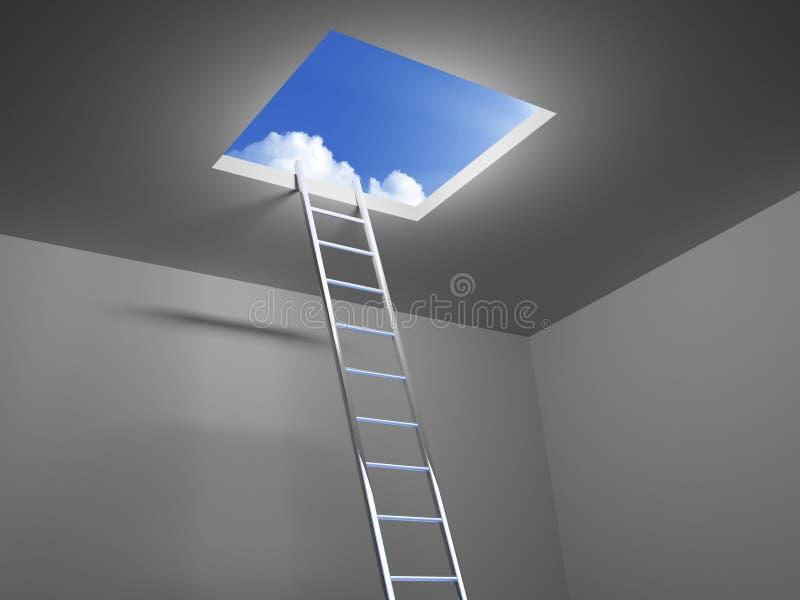 对天空的梯子 库存例证