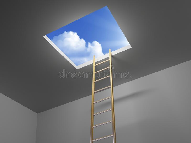 对天空的梯子 皇族释放例证