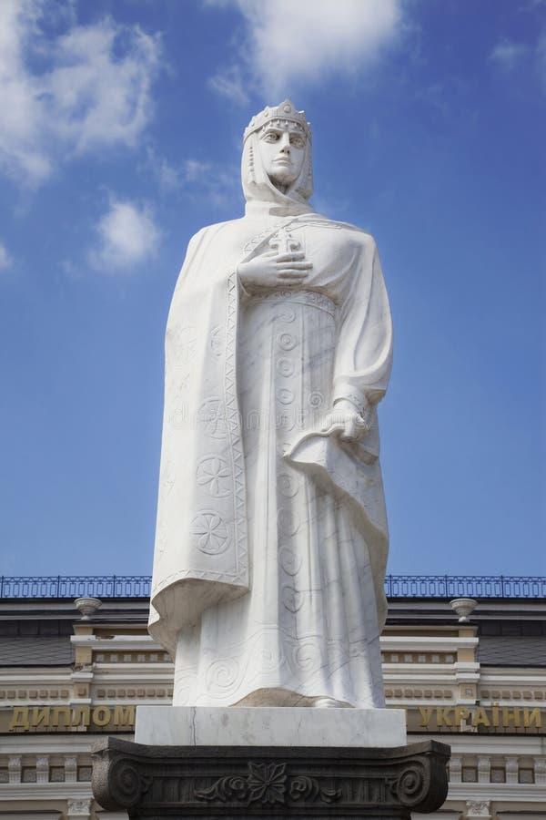 对奥尔加公主的纪念碑在基辅 免版税库存照片