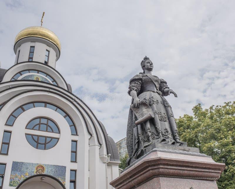 对女皇伊丽莎白的纪念碑 免版税图库摄影