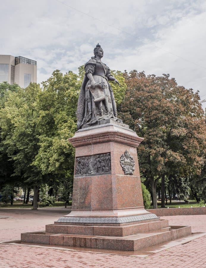 对女皇伊丽莎白的纪念碑 库存图片
