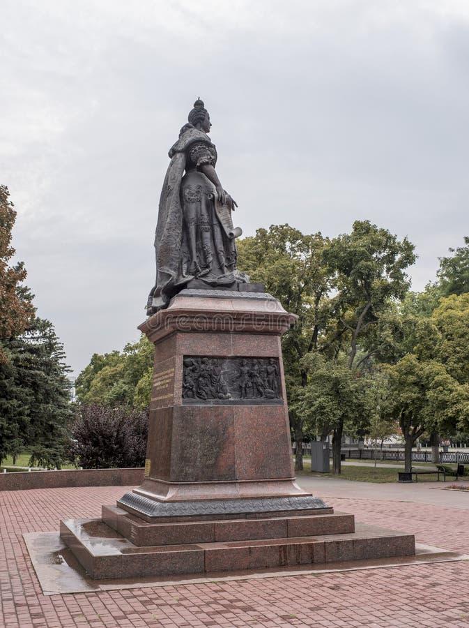 对女皇伊丽莎白的纪念碑 免版税库存图片