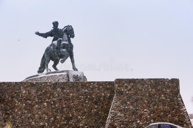 对女皇伊丽莎白,在马背上伊丽莎白的纪念碑的纪念碑 库存照片