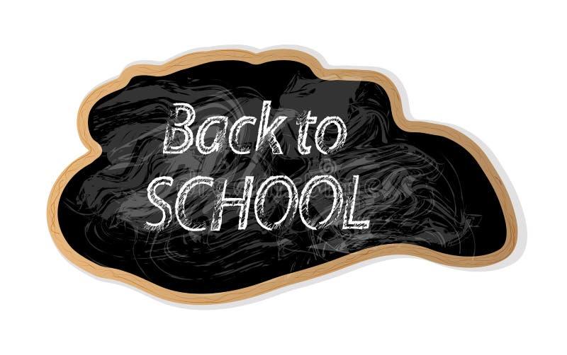 对学校的现代字法在黑人委员会的白色白垩的 向量例证