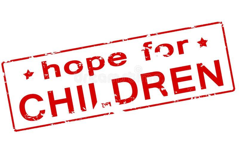 对孩子的希望 向量例证