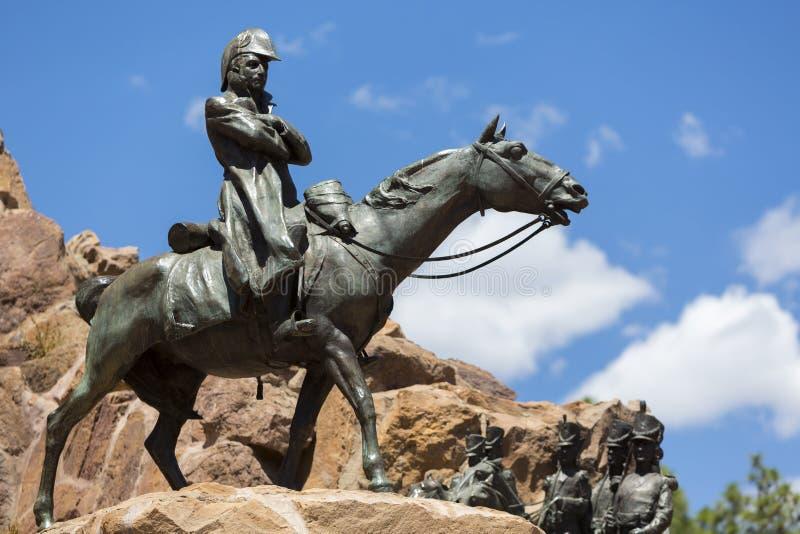 对安地斯的军队, Mendoza的纪念碑 免版税库存图片