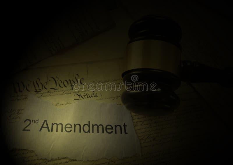 对宪法的第二个校正 免版税库存照片