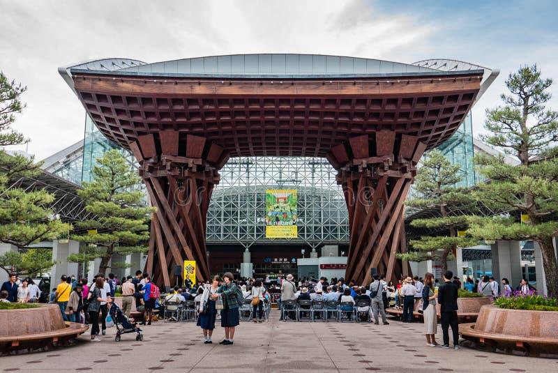 对小今池驻地的Tsuzumimon东部入口 免版税库存照片