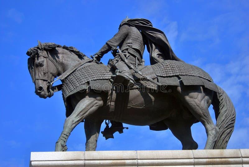 对尤里多尔戈鲁基的纪念碑 kolomna克里姆林宫俄国 图库摄影