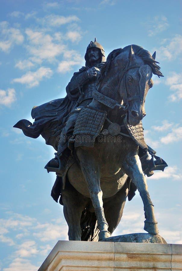 对尤里多尔戈鲁基的纪念碑 kolomna克里姆林宫俄国 免版税库存照片