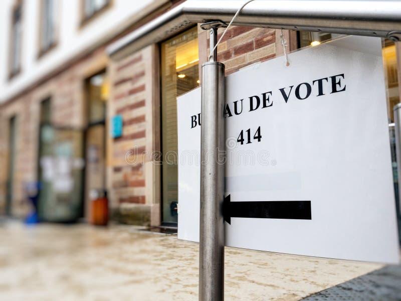 对局de vote法国巴黎的标志 免版税库存图片