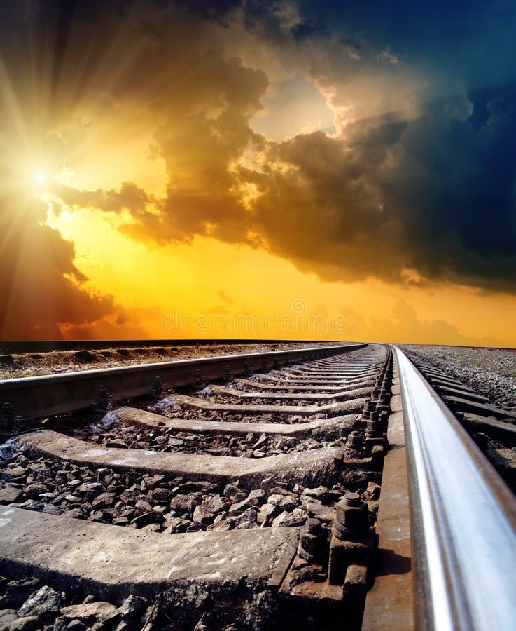 对展望期的铁路 图库摄影