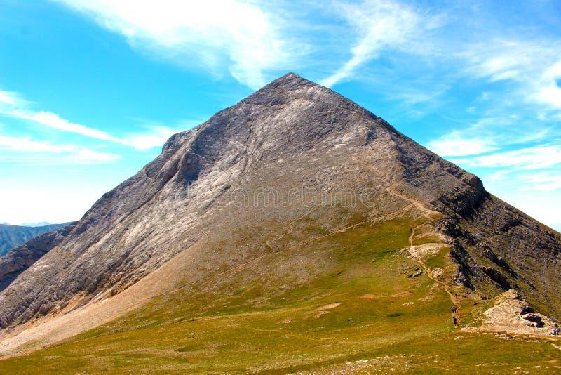 对山采撷的攀登 免版税库存图片